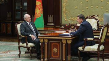 Лукашенко встретился с председателем правления Белкоопсоюза Валерием Ивановым