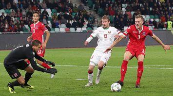 Сборная Беларуси по футболу победила на своем поле команду Люксембурга в Лиге наций