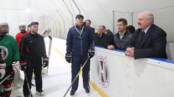 """Президент посетил спорткомплекс """"Пышки"""""""