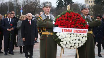Парламентская делегация Турции возложила венок к монументу Победы в Минске