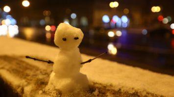 В Беларуси выпал снег