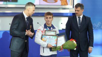 В НОК Беларуси чествовали медалистов ІІІ летних Юношеских Олимпийских игр