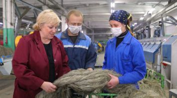 Рентабельность Дубровенского льнозавода в сентябре составила 45%