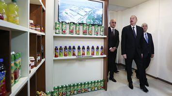 Алиев посетил Торговый дом Азербайджана в Минске