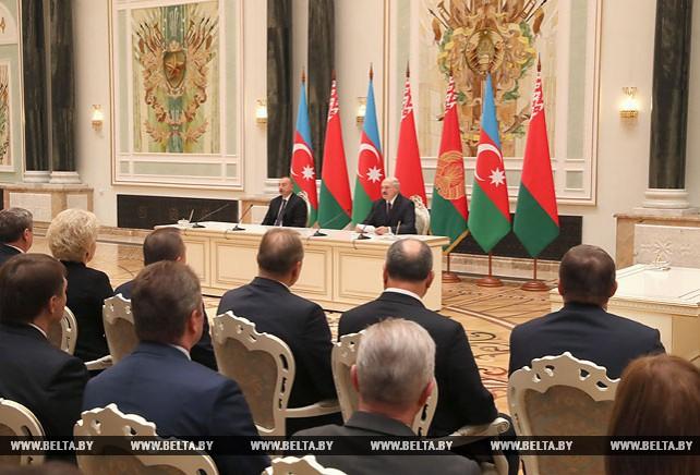 Лукашенко и Алиев заявили о переходе отношений Беларуси и Азербайджана на качественно новый уровень