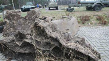 Фрагменты советского танка раскопали в Ветковском районе
