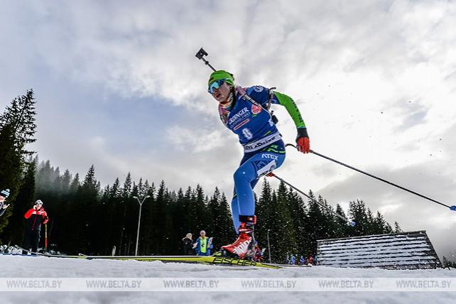 Украинка Юлия Джима победила в индивидуальной гонке на КМ по биатлону в Поклюке, лучшая из белорусок Ирина Кривко - 14-я