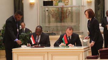 Документы в разных сферах подписаны по итогам переговоров Беларуси и Судана