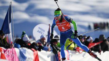 Доротея Вирер победила в спринте на этапе КМ по биатлону в Австрии, Ирина Кривко - 6-я
