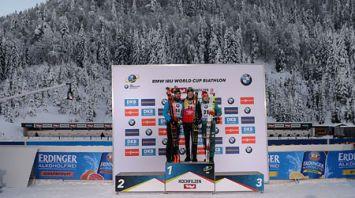 Йоханнес Бё победил в спринте на этапе КМ в Хохфильцене, Мартен Фуркад - 2-й, лучший из белорусов - 45-й