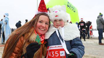 Забег Санта-Клаусов впервые прошел в Минске