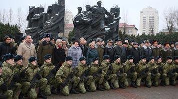200 военнослужащих учебного пункта Гродненской погрангруппы приняли военную присягу