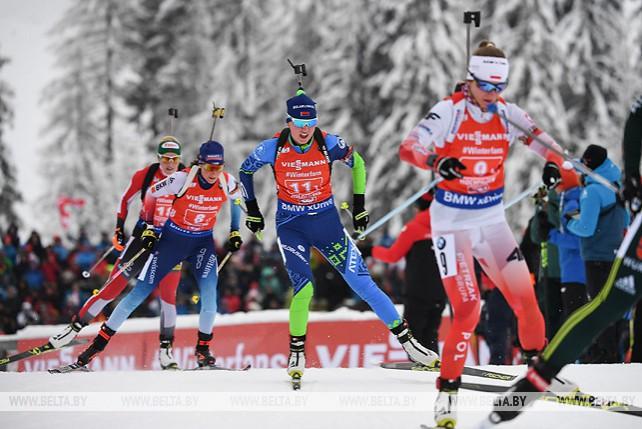 Белорусские биатлонистки заняли 5-е место в эстафете на этапе КМ в Хохфильцене