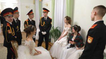 Рождественский кадетский бал провели в Могилеве