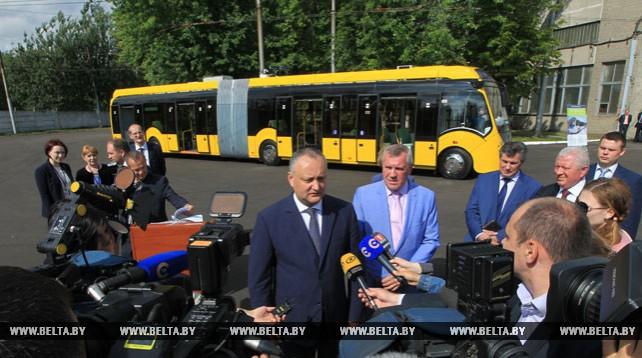 """Игорь Додон посетил """"Белкоммунмаш"""""""