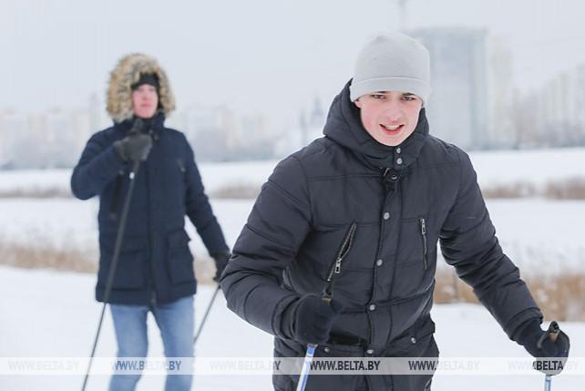 Любительские соревнования по лыжным гонкам прошли в Бресте