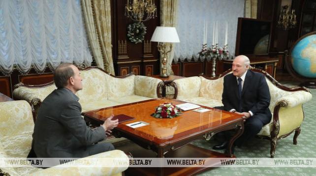 Александр Лукашенко встретился с украинским политическим и госдеятелем Виктором Медведчуком