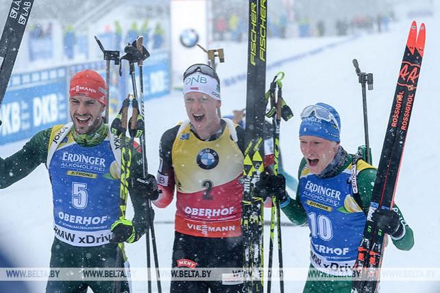 Норвежец Йоханнес Бё победил в мужском пасьюте этапа Кубка мира по биатлону