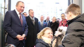 Первой порог нового офиса посольства Австрии в Минске перешагнула кошка
