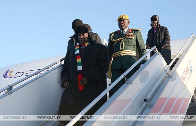 Президент Зимбабве прибыл с официальным визитом в Беларусь