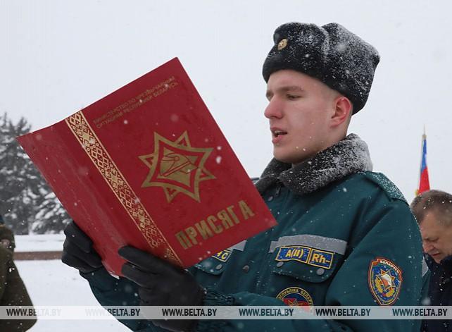 47 сотрудников МЧС приняли присягу в Витебске