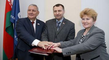 В Витебске подписали соглашение о сотрудничестве профсоюзов Витебской, Псковской и Смоленской областей