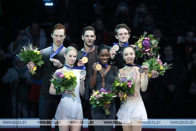 Французская спортивная пара завоевала золотую медаль в парном катании на ЧЕ в Минске