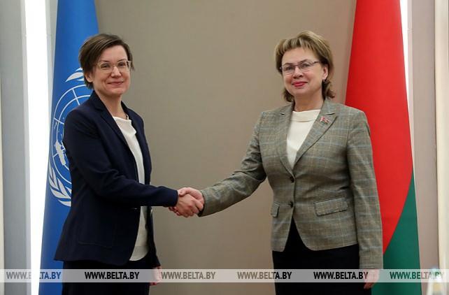 Щеткина встретилась с директором Регионального бюро ПРООН по странам Европы и СНГ