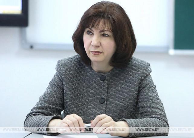 Кочанова встретилась со старшеклассниками полоцкой гимназии