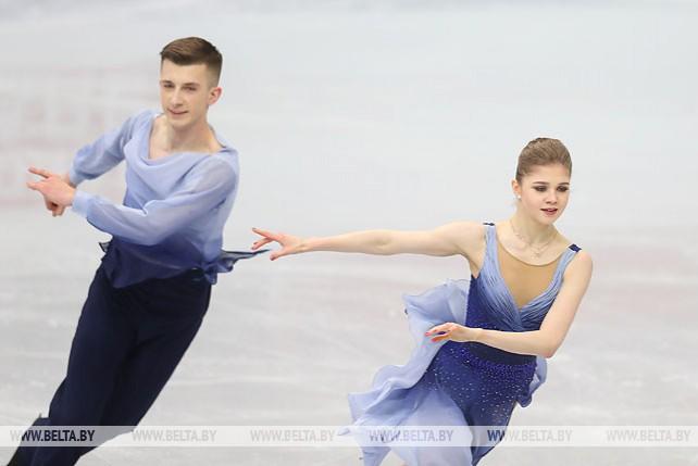 Анна Кубликова и Юрий Гулицкий выступили в произвольной программе ЧЕ по фигурному катанию