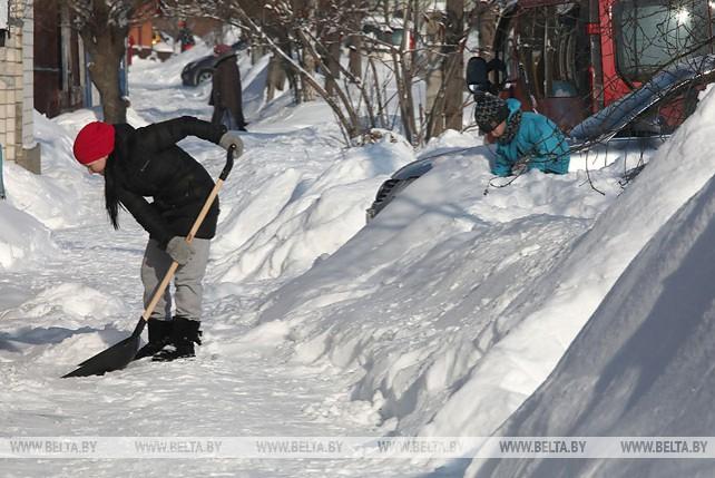 Снежный покров в Гомеле превысил в три раза средние многолетние значения конца января