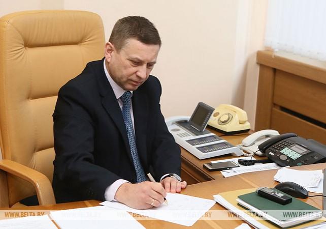 Лавринович провел прямую линию и прием по личным вопросам в Гродненском облисполкоме