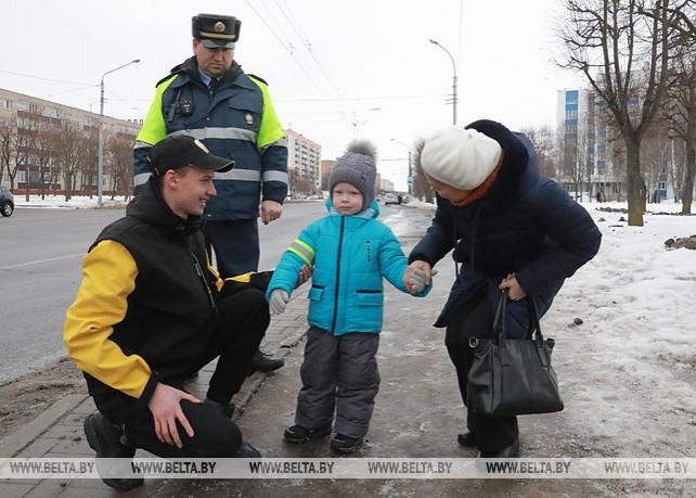 """Бойцы МООП участвуют в операции """"Пешеход"""" в Могилеве"""
