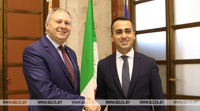 Румас встретился с заместителем председателя Совета Министров Италии
