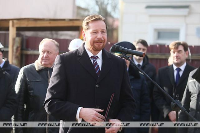Церемония закладки капсулы в ознаменование начала строительства нового здания генерального консульства Литвы в Гродно