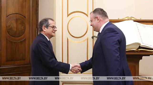 Ермолович встретился с министром экономики и финансов Италии