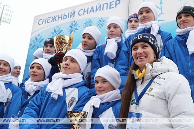 """В """"Раубичах"""" завершились соревнования по биатлону """"Снежный снайпер"""""""