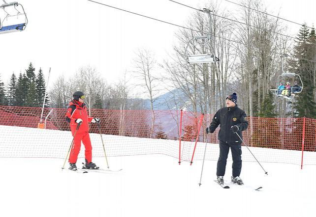 Лукашенко и Путин вместе вышли на горнолыжную трассу в Сочи