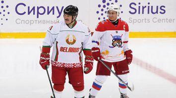 Путин и Лукашенко в Сочи сыграли в хоккей