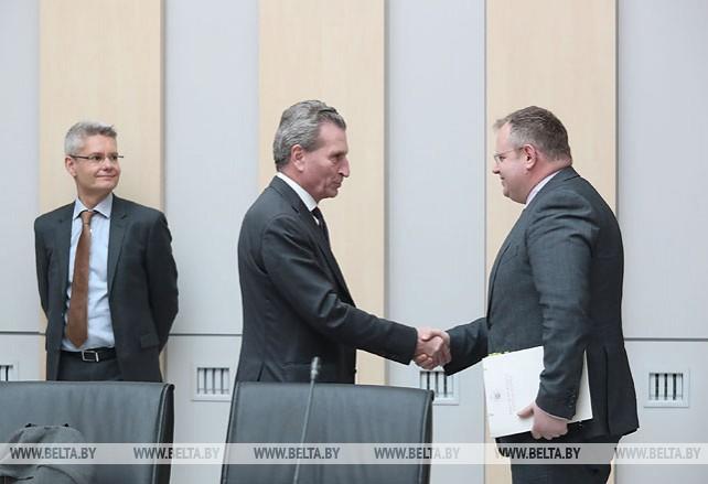 Ермолович встретился с еврокомиссаром