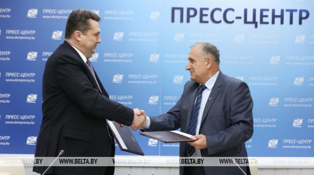 Белорусский и российский союзы журналистов подписали соглашение о сотрудничестве