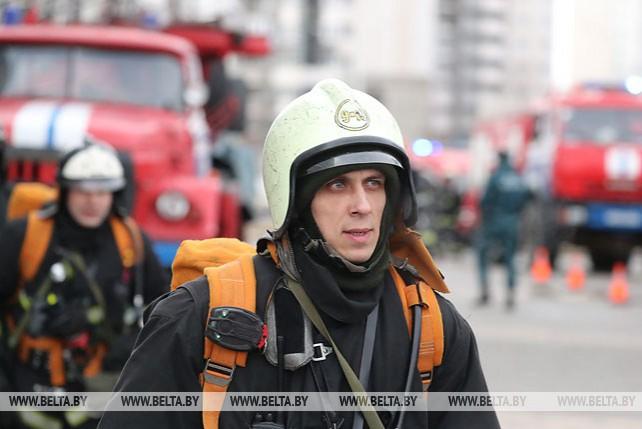 """Спасатели провели учения в """"Минск-Арене"""""""
