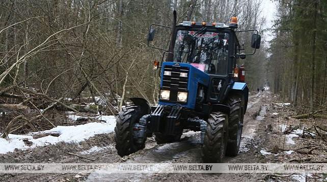 Трактор-квест с элементами ориентирования прошел в Щучине