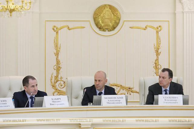 В Минске проходит второе заседание белорусской части белорусско-российского делового совета