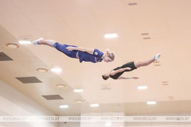 Белорусские батутисты тренируются перед II Европейскими играми