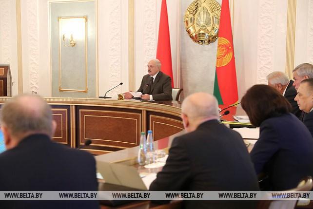 Заседание Совета безопасности Беларуси с участием главы государства