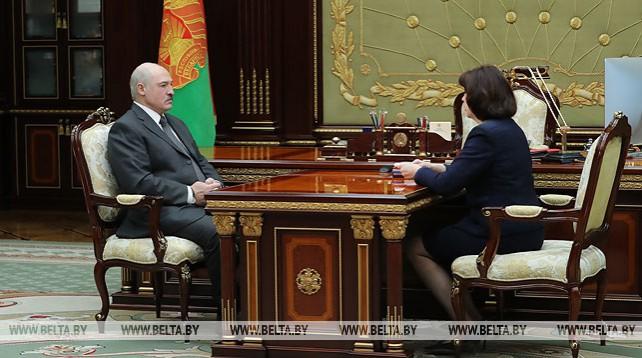 Лукашенко принял с докладом Кочанову