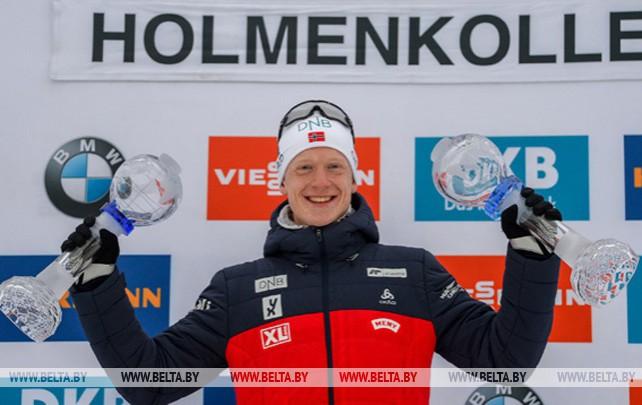 Йоханнес Бё выиграл гонку преследования на этапе КМ по биатлону в Холменколлене
