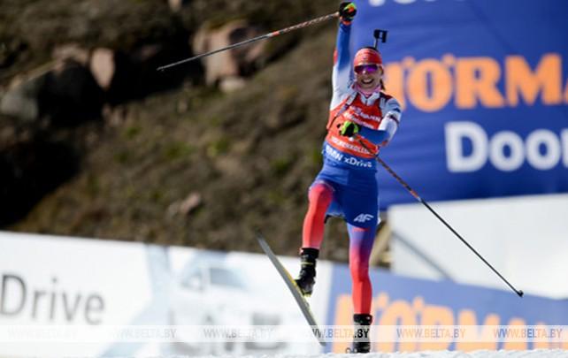 Анастасия Кузьмина победила в пасьюте на заключительном этапе КМ в Холменколлене
