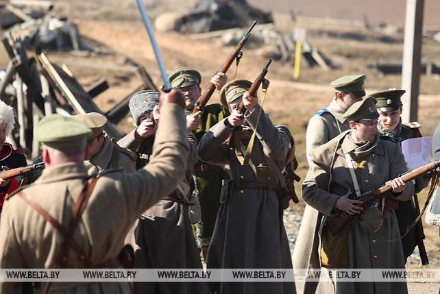 """На """"Линии Сталина"""" прошла реконструкция боя Первой мировой войны"""